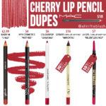 MAC Cherry Lip Pencil Dupes