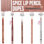 MAC Spice Lip Pencil Dupes