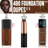 Fenty Beauty 490 Pro Filt'r Soft Matte Longwear Foundation Dupes