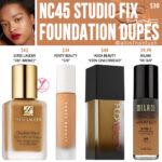 MAC NC45 Studio Fix Fluid Foundation Dupes