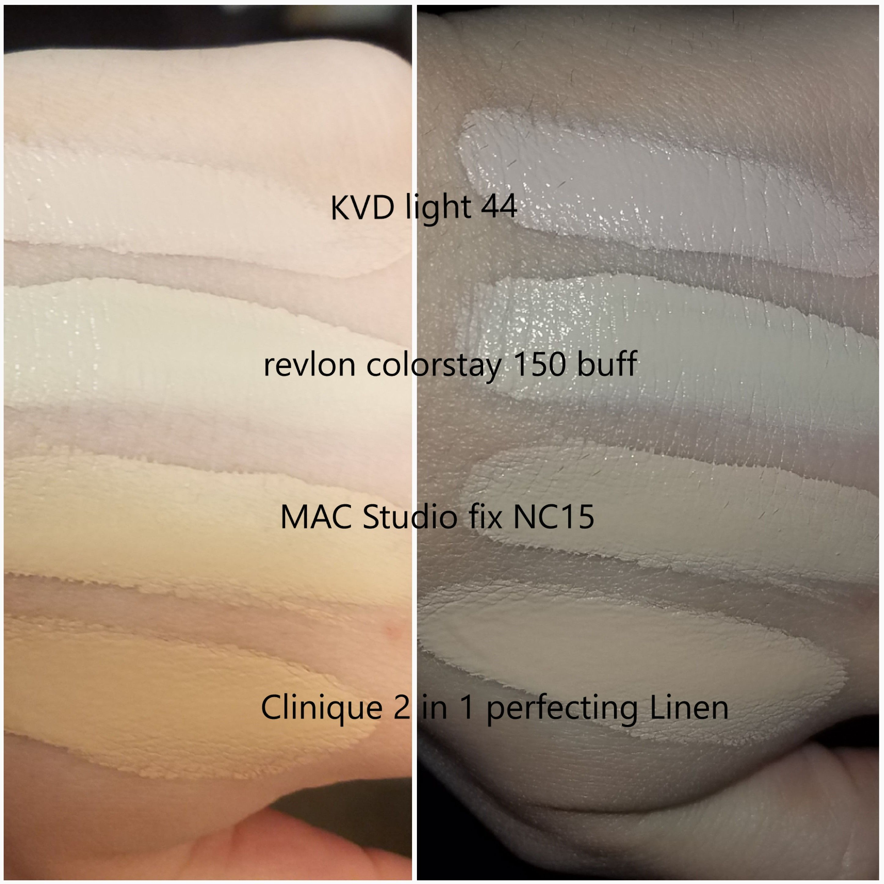 MAC NC15 Studio Fix Fluid Foundation Dupes - All In The Blush