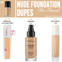 Too Faced Nude Born This Way Foundation Dupes