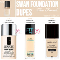 Too Faced Swan Born This Way Foundation Dupes