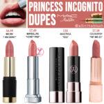 MAC Princess Incognito Lipstick Dupes [Disney Aladdin Collection]