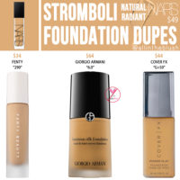 NARS Stromboli Natural Radiant Foundation Dupes