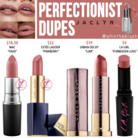 Jaclyn Cosmetics Perfectionist Lipstick Dupes