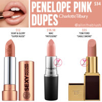 Charlotte Tilbury Penelope Pink K.I.S.S.I.N.G Lipstick Dupes