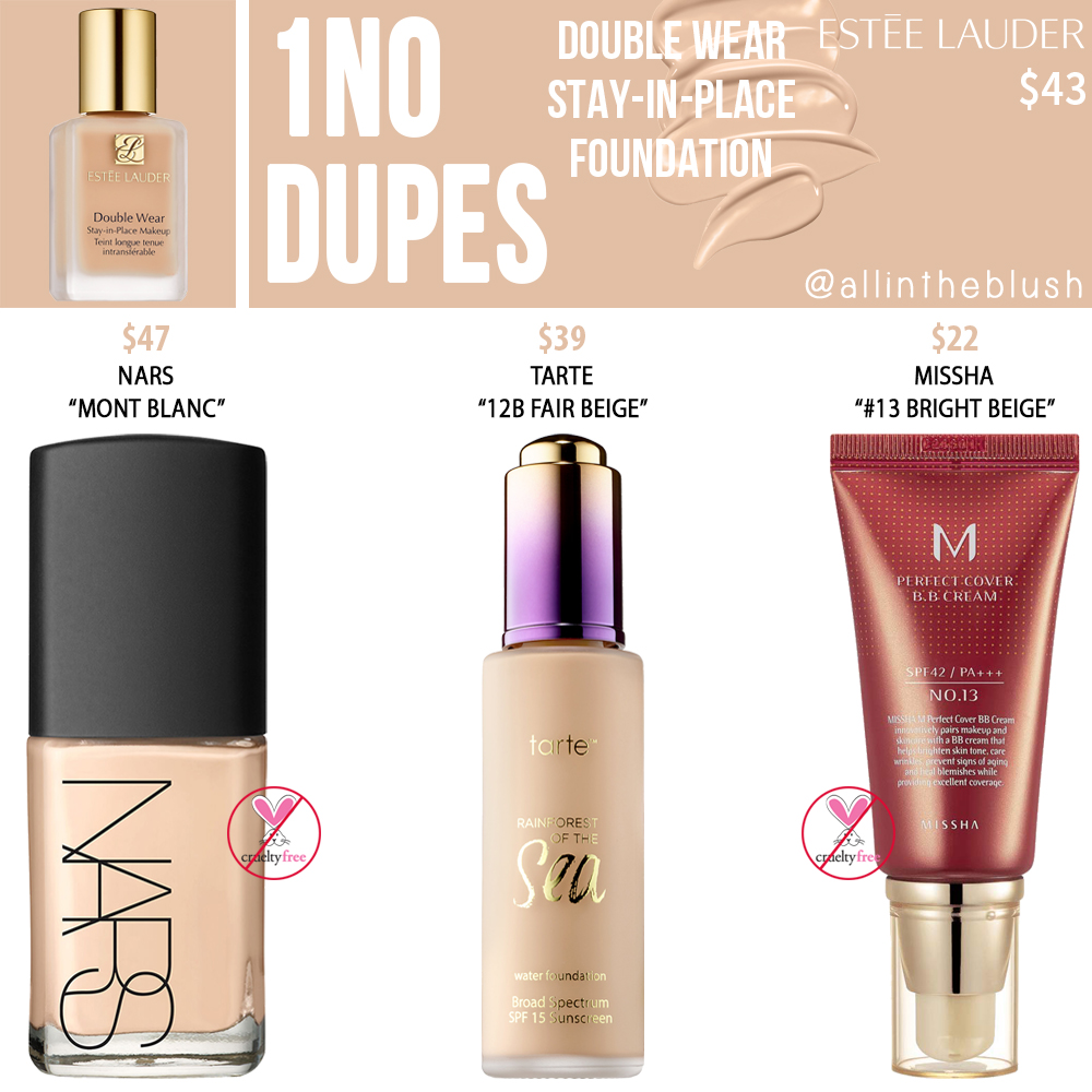 Estee Lauder 1N0 Double Wear Stay-in-Place Foundation Dupes