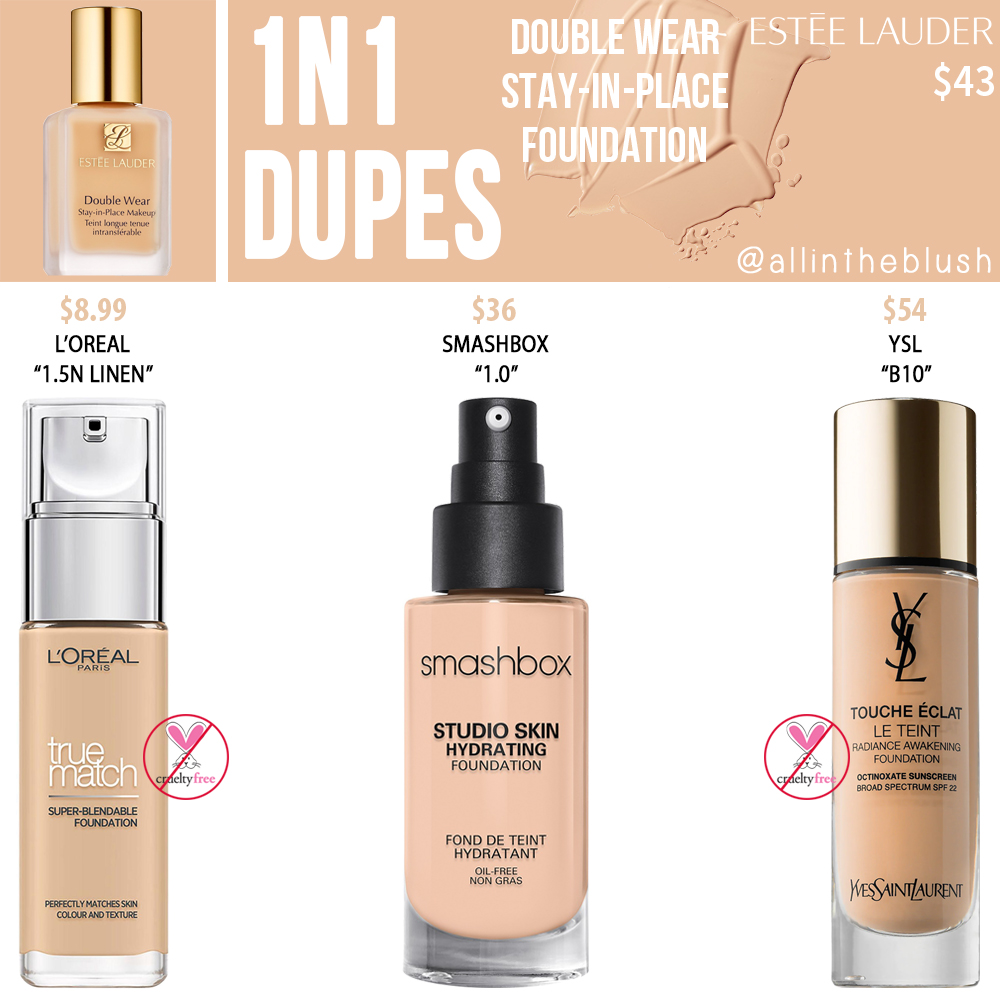 Estee Lauder 1N1 Double Wear Stay-in-Place Foundation Dupes
