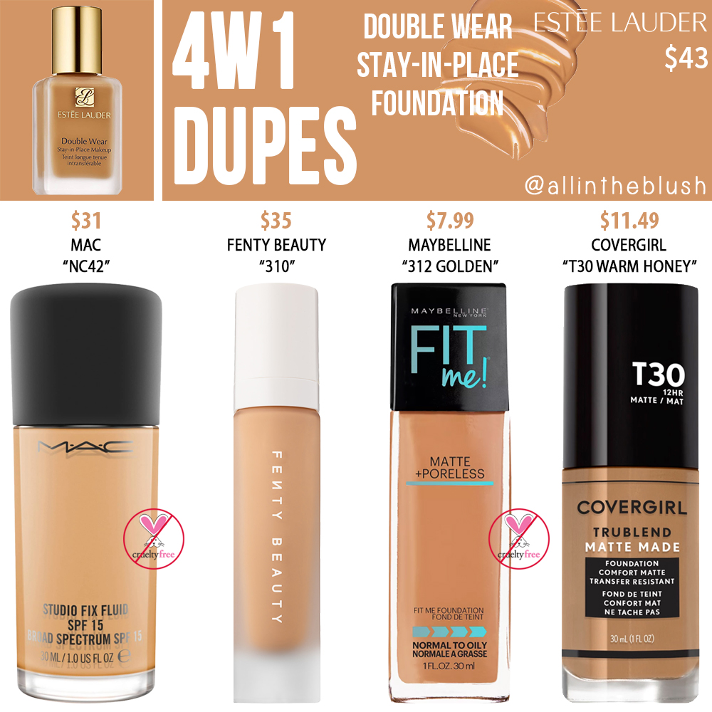 Estee Lauder 4W1 Double Wear Stay-in-Place Foundation Dupes