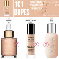 Estee Lauder 1C1 Double Wear Stay-in-Place Foundation Dupes