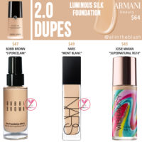 Armani Beauty 2.0 Luminous Silk Foundation Dupes