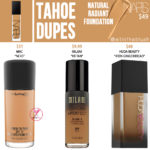 NARS Tahoe Natural Radiant Foundation Dupes