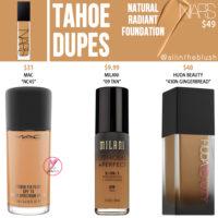 NARS Tahoe Natural Radiant Foundation Dupes