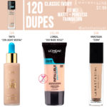Maybelline 120 Classic Ivory FIT ME! Matte + Poreless Foundation Dupes
