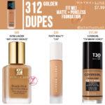 Maybelline 312 Golden FIT ME! Matte + Poreless Foundation Dupes