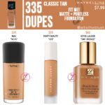 Maybelline 335 Classic Tan FIT ME! Matte + Poreless Foundation Dupes