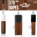 Maybelline 375 Java FIT ME! Matte + Poreless Foundation Dupes