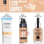 Maybelline 125 Nude Beige FIT ME! Matte + Poreless Foundation Dupes
