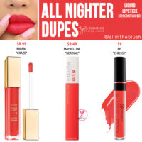 Kylie Cosmetics All Nighter Liquid Lipstick Dupes