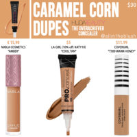 Huda Beauty Caramel Corn The Overachiever High Coverage Concealer Dupes