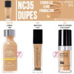 MAC NC35 Studio Fix Fluid Foundation Dupes