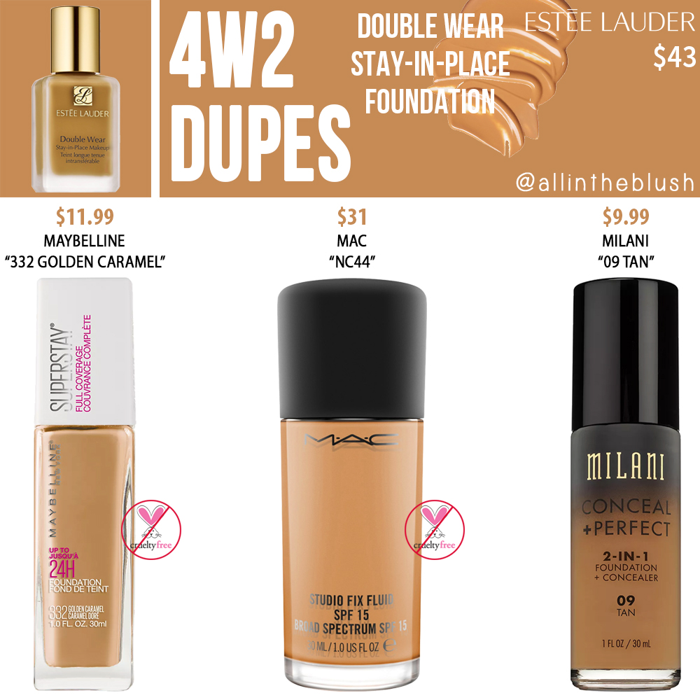 Estee Lauder 4W2 Double Wear Stay-in-Place Foundation Dupes