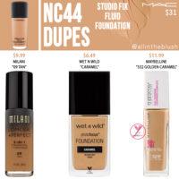 MAC NC44 Studio Fix Fluid Foundation Dupes