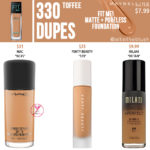 Maybelline 330 Toffee FIT ME! Matte + Poreless Foundation Dupes