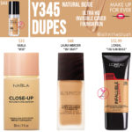 Make Up For Ever Y345 Natural Beige Ultra HD Invisible Cover Foundation Dupes