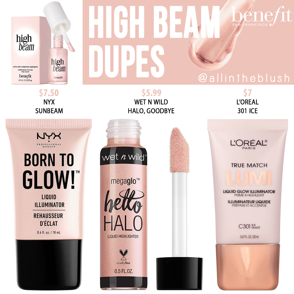 Benefit High Beam Liquid Highlighter Dupes