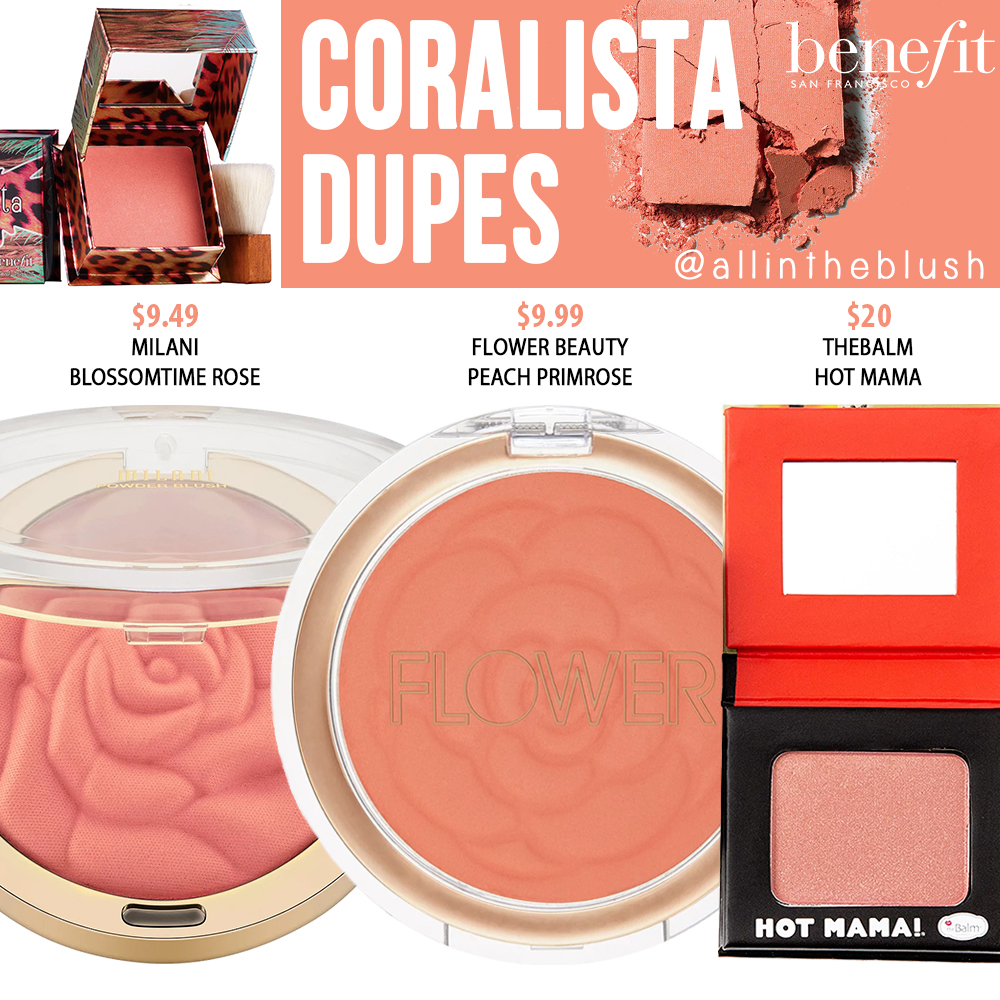 Benefit Coralista Powder Blush Dupes