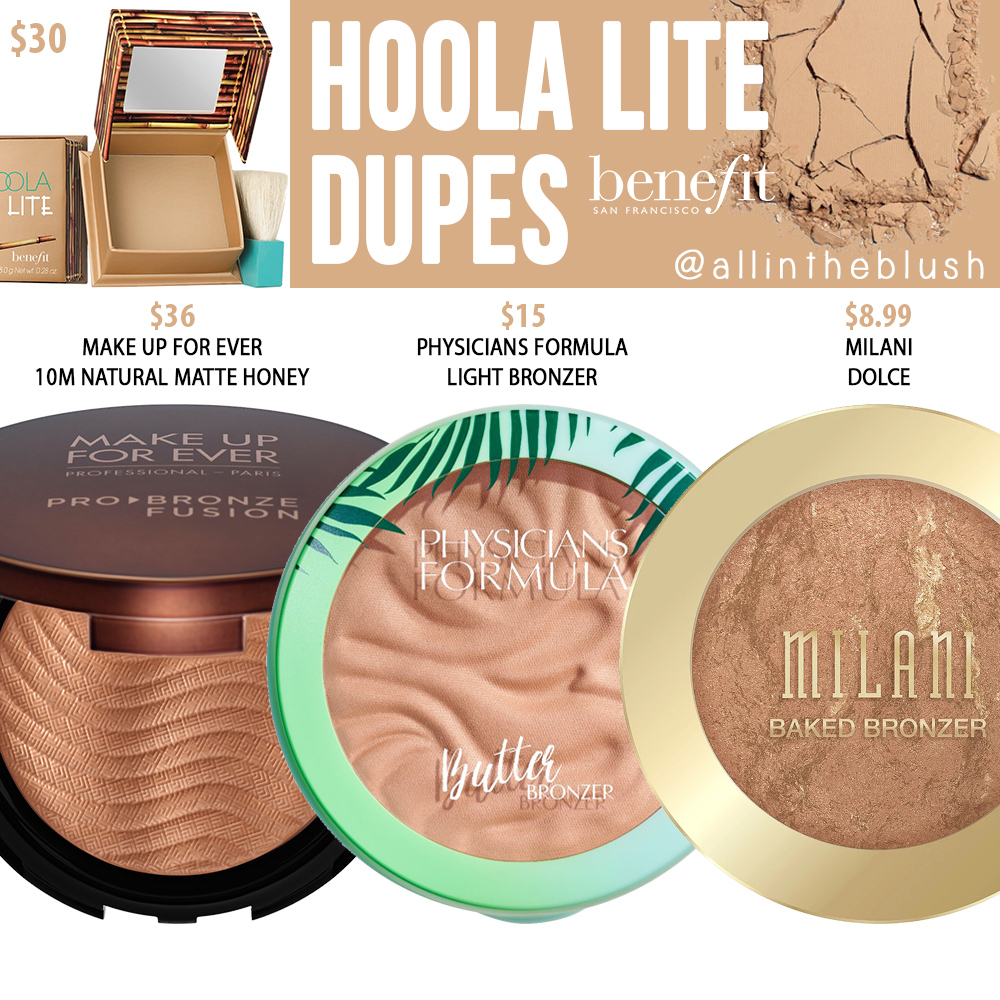 Benefit Hoola Lite Matte Bronzer Dupes