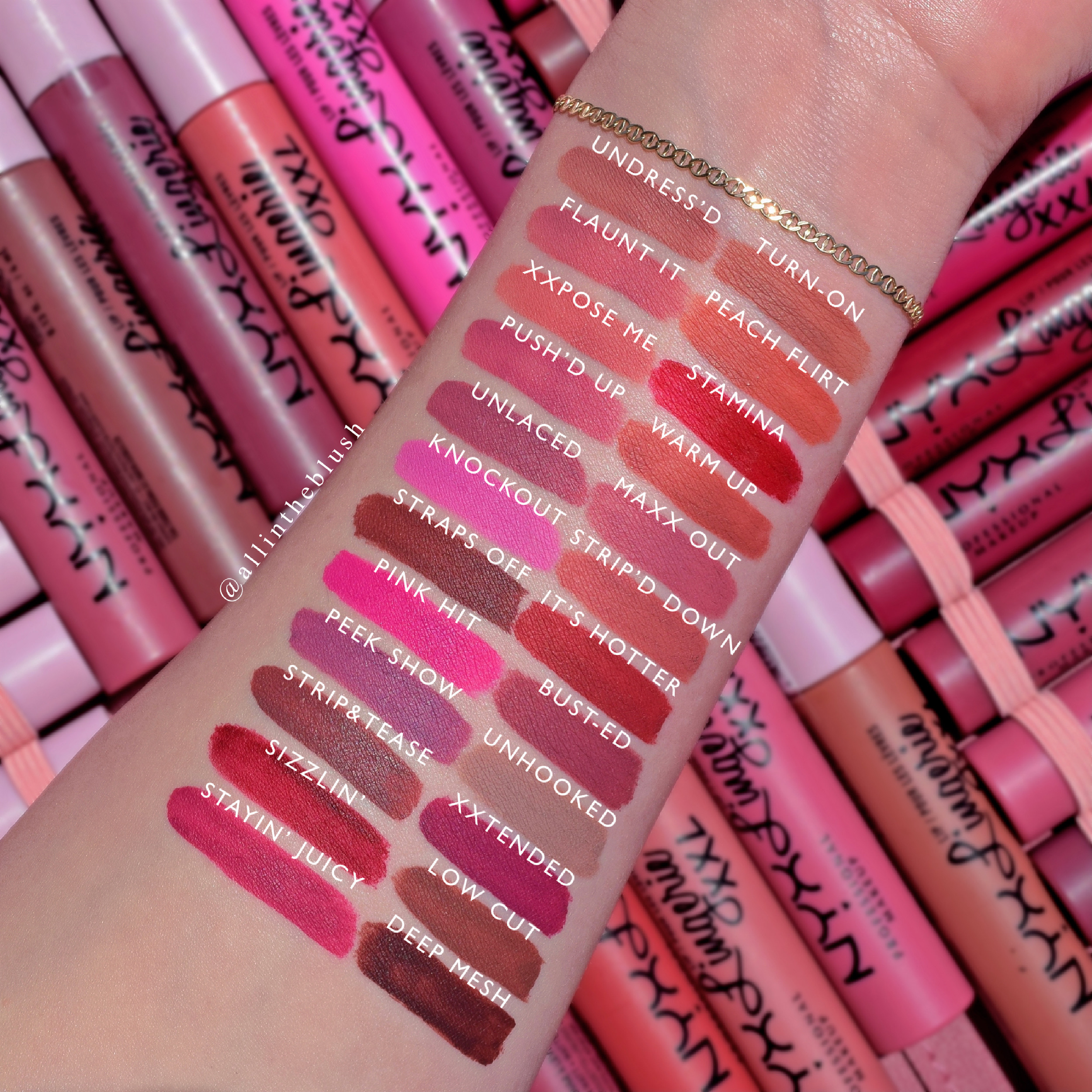 Review & Swatches of the New NYX Cosmetics Lip Lingerie XXL Long-Lasting Matte Liquid Lipstick