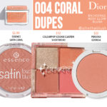 Dior 003 Coral Backstage Rosy Glow Blush Dupes